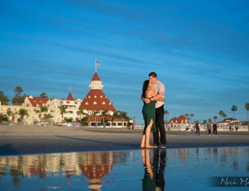 Gabi + Luke's Engagement Session | Hotel Del Coronado | Centennial Park